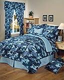 Blue Camouflage Sheet Set - King