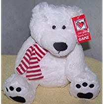 Ganz *Polar Bear with scarf* 9H Plush Stuffed Bear