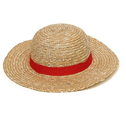 【コスプレ】 DREAMPARK ワンピース ルフィ 麦わら帽子 コスチューム用小物 麦色 約34cmx10cm