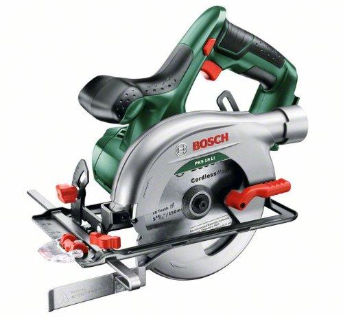 Bosch-DIY-Akku-Kreissge-PKS-18-LI-ohne-Akku-Sgeblatt-Parallelanschlag-18-V-25-Ah-Kreissgeblatt-Nenn--150-mm
