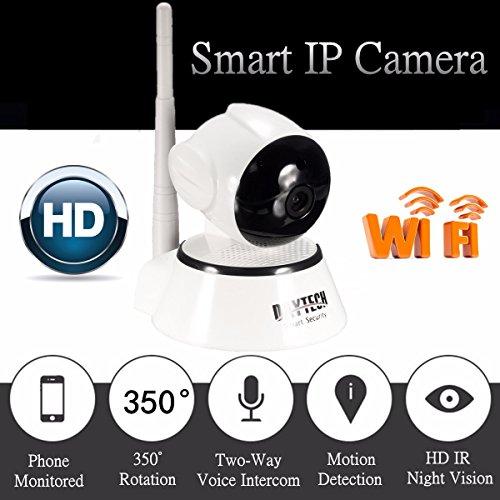 CAMTOA H.264 1280x720P HD WiFi Telecamera IP Wireless Videosorveglianza Microfono Incorporato con Doppia Audio,Allarme Automatico,Motion Detection,Visione Notturna,Visualizzazione Remota,WIFI Antenna