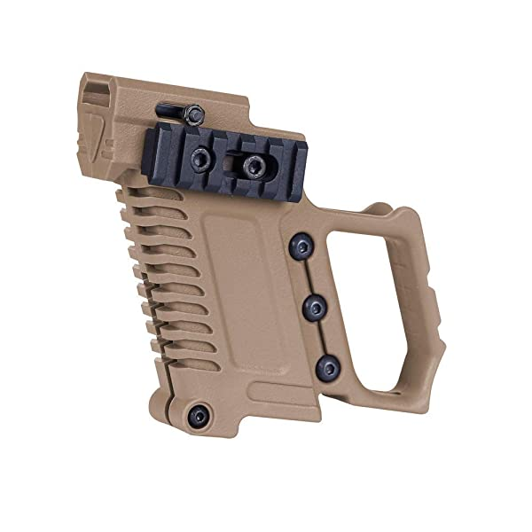 LEJUNJIE Tactical Pistol Carbines Kit Quick Reload for Glock G17 G18 G19 Series Loading Equipment (Color: Tan)