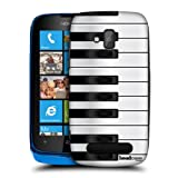 Head Case Designs Piano Keys Hard Back Case Cover for Nokia Lumia 610