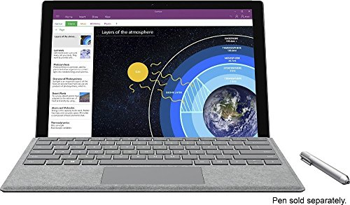 Microsoft Surface Pro 4 (128 GB, 4 GB RAM, Intel Core M) Bundle With Backlit Keyboard - Silver