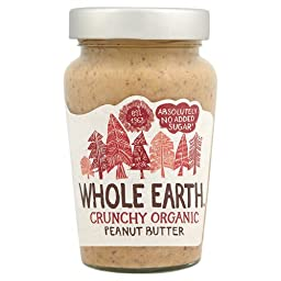 Whole Earth Organic Crunchy Peanut Butter No Added Sugar (340g)