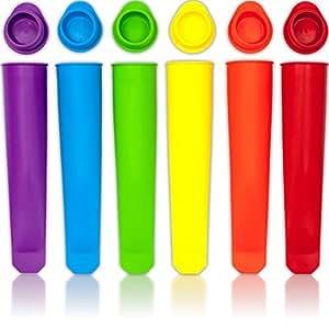 Silicona Popsicle Moldes / Hielo Pop Moldes - Conjunto de 6 tubos