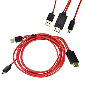 DX-TECH Design MHL Micro USB to HDMI HDTV Cable Adapter for Samsung Galaxy S3 SIII S4 Note 2