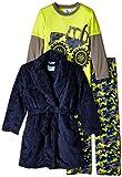 Bunz Kids Little Boys' 3 Piece Boys Trucks Robe and Pajamas Sets