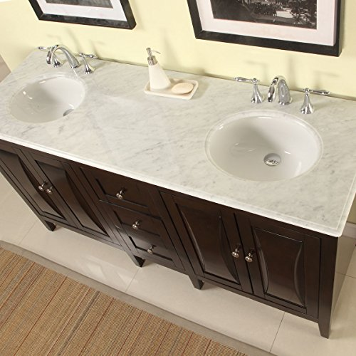 Silkroad Exclusive Countertop Marble Stone Double Sink