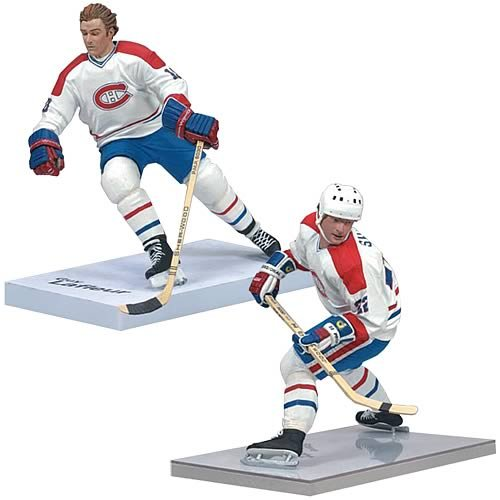 McFarlane Toys NHL Sports Picks Canada Exclusive Montreal Centennial Action Figure 2-Pack Guy LaFleur and Steve Shutt (Montreal Canadiens)