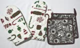 Microwave Oven Candy Gloves & Quilted Mayura Potholder