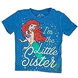 Disney The Little Mermaid Ariel Little Sister Girls Blue T-Shirt