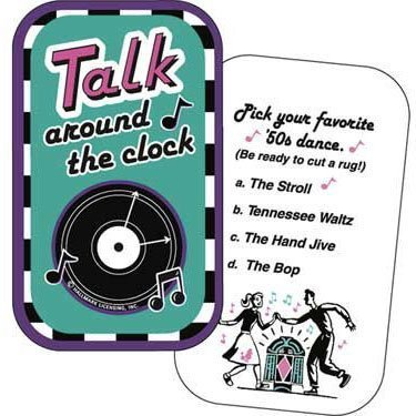 Rock N Roll Talk Around the Clock Party Card Game