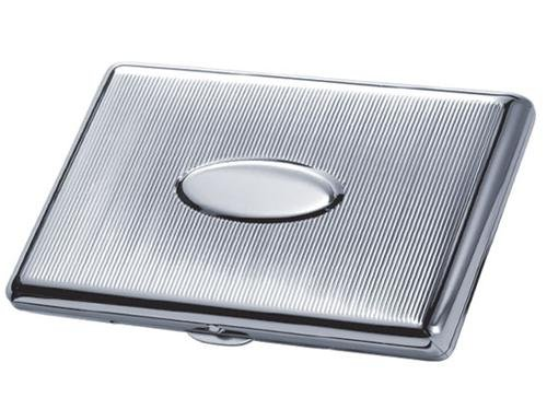Liron Chrome Plated Brass Cig. Case - Holds 20 100S Size Cig.'S back-1057546