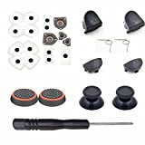 For Dualshock 4 PS4 Controller L1 R1 L2 R2 Trigger Springs Buttons + 2 Joystick Thumb Sticks + 1 Set Conductive Rubber+ 2 x Springs +Joystick Silicone Caps