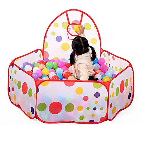gangnumsky-Large Children Kid Ocean Ball Pit Pool Game Play Tent with Ball Hoop Indoor Outdoor Garden Playhouse Kids (Jack And The Neverland Pirate Costume)