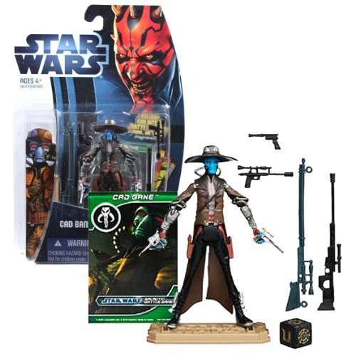 Hasbro Year 2012 Star Wars The Clone Wars Galactic Battle Game Series 4 Inch Tall Action Figure - CW4 CAD BANE with Removable Hat, 3 Sniper Pistols, 2 Sniper Rifles, Blaster Pistol, Battle Game Card, Die and Figure Display Base