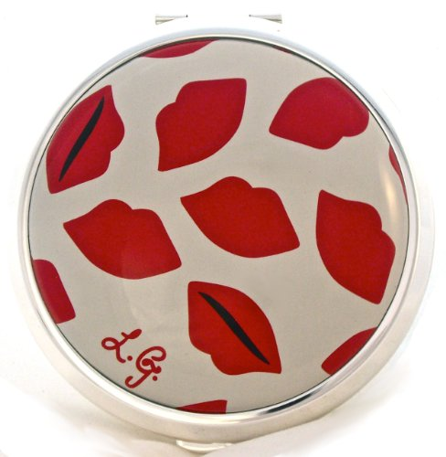 Lulu Guinness Lips Powder Compact Case by Stratton - For Loose or Pressed Powder
