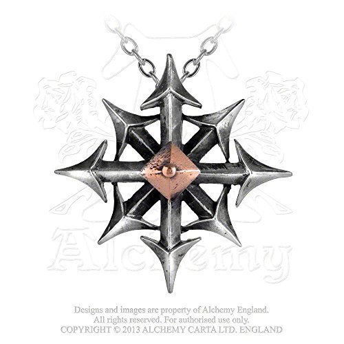 Chaostar Eight Arrow Compass of Every Direction Necklace by Alchemy Gothic by Alchemy Gothic of England