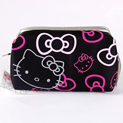 Cheapest Hello Kitty Pencil Case Cosmetic Bag Tote Black by Hello Kitty - Free Shipping Available