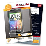 AtFoliX FX-Antireflex Non-Reflective Display Protection Films for HTC Desire Z Pack of 3 High quality: Made in Germany.