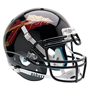 NCAA Florida State Seminoles Authentic XP Football Helmet, Black by Schutt