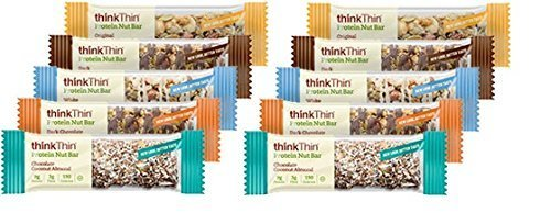 Think Thin Protein Nut Bar, New Flavors Variety (Pack of 10) (Think Thin Bars Caramel compare prices)