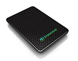 Transcend Information 256GB SuperSpeed 2.5-Inch USB 3.0 External Solid State Drive 260/225 MB/s TS256GESD200K