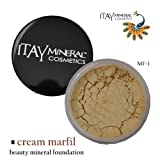 Itay Mineral Foundation Loose Powder 9gr MF1-Cream Marfil + Cala Lily 7pcs Brush Set 70816
