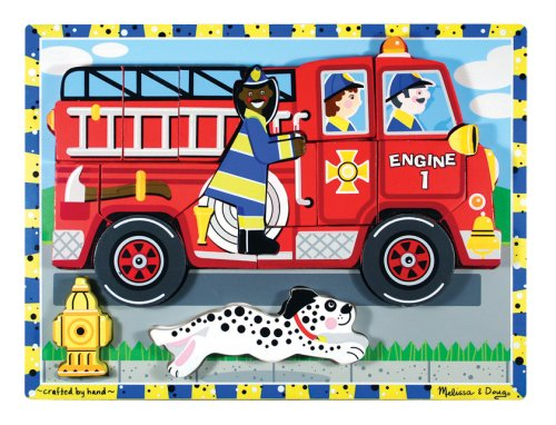 Melissa & Doug Deluxe Fire Truck Chunky Puzzle - Buy Melissa & Doug Deluxe Fire Truck Chunky Puzzle - Purchase Melissa & Doug Deluxe Fire Truck Chunky Puzzle (Melissa & Doug, Toys & Games,Categories,Preschool,Pre-Kindergarten Toys,Puzzles)