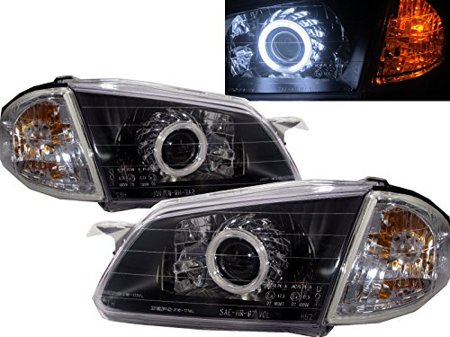 CrazyTheGod 323 BJ 1998-2000 Sedan/Wagon CCFL HID BI-Projector Headligh Headlamp V1X1C BLACK for MAZDA LHD (Mazda 323 Headlamps compare prices)