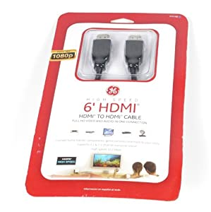 GE HDMI Cable - Black (6')