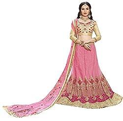 Nilkanth Enterprise Designer Pink Lehengha