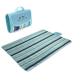 2016 Glyby New Picnic mat, Multifunctional Outdoor Waterproof Moisture-proof Beach Blanket ,Light Weight Portable Foldable Camping Mat,Baby Crawling Children Play Folding Grass Mat - Blue Stripe