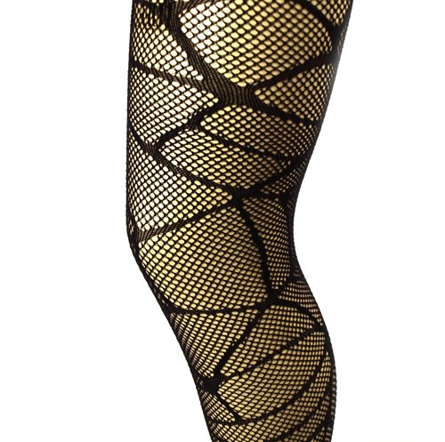 Pamela Mann Cobweb Pattern Net Collant nero one size