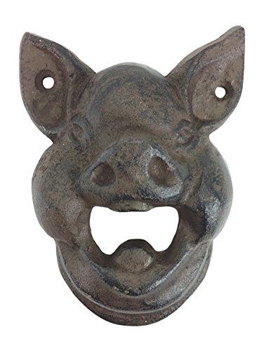 Hungry Pig Bottle Cast Iron Wall Bottle Opener 4.5 Tall (Vintage Iron Cast compare prices)