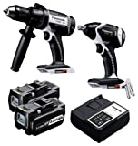 Panasonic EYC160LR Cordless, Battery Powered, Rechargeable 18V Hammer Drill Driver / Impact Wrench Combo