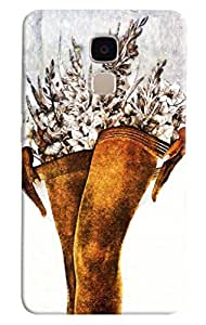 Omnam Flower Basket On Legs Printed Designer Back Cover Case For Huawei Honor 5C