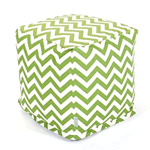Zig Zag Cube Ottoman Color: Sage by Majestic Home Products