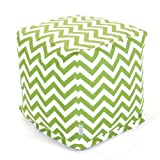 Majestic Home Goods Sage Zig Zag Cube, Small