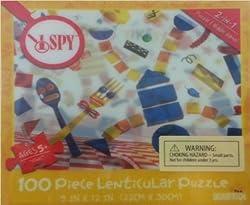 I SPY Yikes 100 Piece Lenticular Puzzle 9 x 12