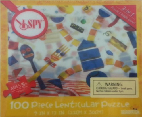 "I SPY Yikes 100 Piece Lenticular Puzzle  9"" x 12"""