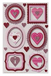 Martha Stewart Crafts Chipboard Stickers, Frame And Heart