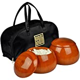 Yunzi Double Go Game Convex Stones and Jujube Bowls - 8.8mm (Size 32)
