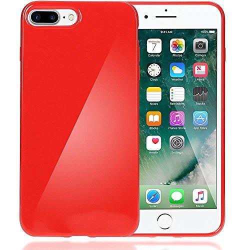 delightable24 Protezione Cover Case in Silicone TPU Jelly per Smartphone APPLE IPHONE 7 PLUS - Rosso