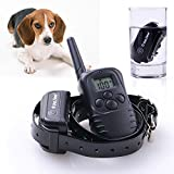 Amzdeal® New LCD Rechargeable and Waterproof 998DB Pet Dog Collar Waterproof Remote Electric Pet Dog Trainer Training Collar Control
