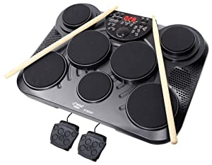 Pyle-Pro PTED01 Electronic Table Digital Drum Kit Top w  7 Pad Digital Drum Kit by PylePro