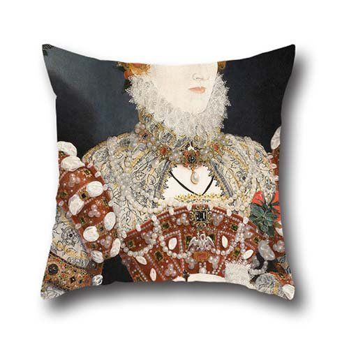 Pillow Covers Of Oil Painting Nicholas Hilliard (called) - Portrait Of Queen Elizabeth I,for Couples,sofa,kids Boys,seat,lover,dining Room 20 X 20 Inches / 50 By 50 Cm(both Sides)
