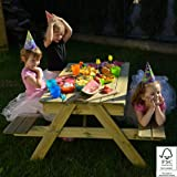 Children's Picnic Table Sandpit Wooden kid's 4 seat
