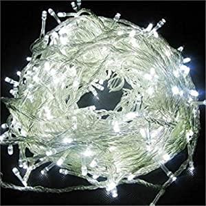 WATERPROOF 300 Cool White LED Fairy Christmas Halloween Wedding Party Outdoor Lights 32 Metre & Mains Operated WITH MANY FLASH OPTIONS